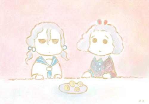 シュークリームを2人でわける