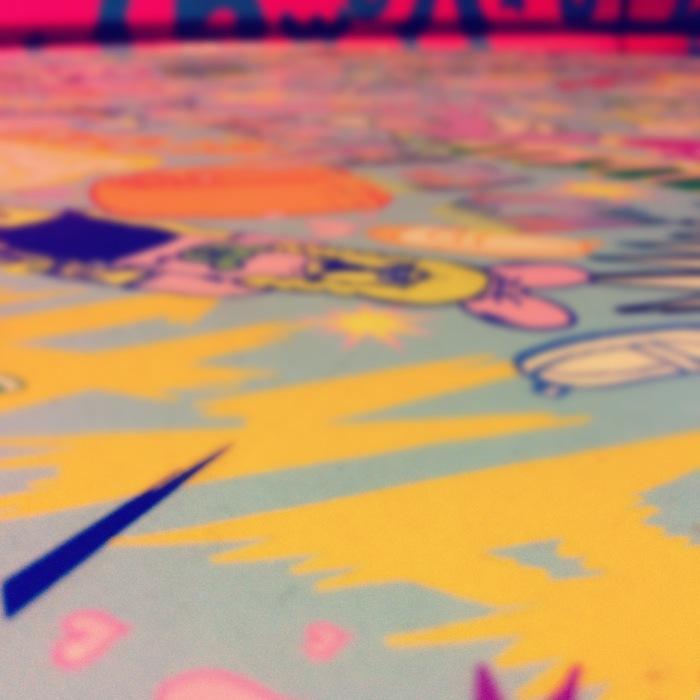 黄色のピンクの世界